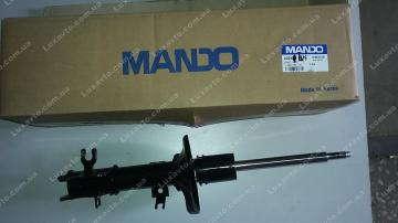 Амортизатор Шевроле Авео (Chevrolet Aveo) передний левый газ (c АБС) Mando (оригинал)