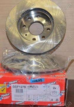 Тормозные диски передние Шевроле Авео (Chevrolet Aveo), комплект Ferredo