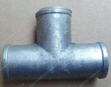 Тройник патрубков радиатора Таврия 1102, Славута 1103 алюминевый