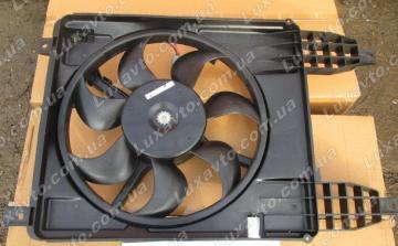 Мотор радиатора с диффузором Шевроле Авео (Chevrolet Aveo)-4 T-255/Шевроле Авео-3 (2010-) (Chevrolet Aveo)/Vida FORCEONE основной в сборе Корея