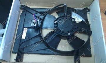 Мотор радиатора кондиционера с диффузором Дэу Ланос (Daewoo Lanos) Luzar