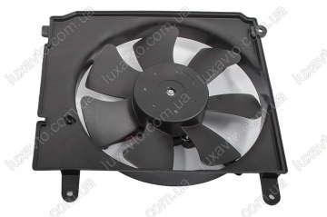 Мотор радиатора с диффузором Дэу Ланос (Daewoo Lanos) KAP Корея