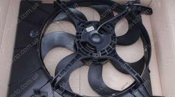 Мотор радиатора с диффузором Aveo 1,6 NS MOTOR Корея