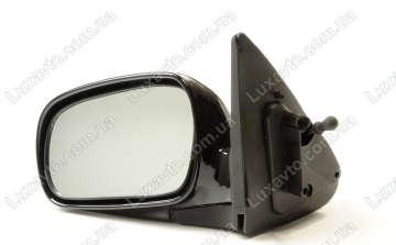 Зеркало в сборе Дэу Нексия (Daewoo Nexia) наружное левое механическое Grog DM