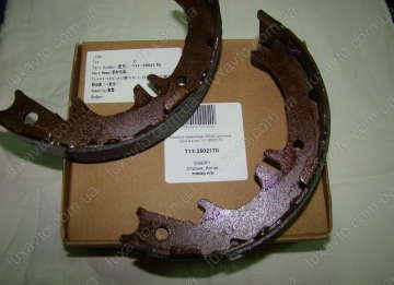Колодки ручника, ручного тормоза (на одно колесо) Chery Tiggo [1.8, -2012г.], Chery Tiggo [2.0, -2010г.], Chery Tiggo [2.4, -2010г.,MT] (4шт) комплект