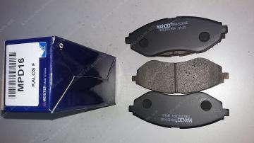 тормозные колодки шевроле авео (chevrolet aveo) передние mando