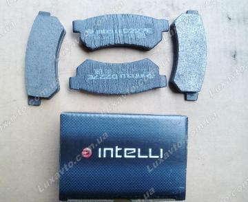 тормозные колодки шевроле лачетти (chevrolet lacetti) задние нового образца dafmi intelli (черные)