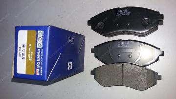 тормозные колодки шевроле авео (chevrolet aveo) передние hi-q корея
