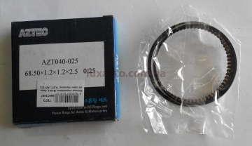 Кольца поршневые Дэу Матиз (Daewoo Matiz) AZTEC Корея 0,25 (комплект на 1 цилиндр)