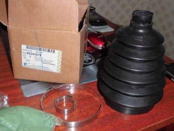 Пыльник шруса наружный Дэу Ланос 1.4-1.6 (Daewoo Lanos), Дэу Нубира (Daewoo Nubira), Шевроле Авео 1.5 (Aveo), Нексия (Nexia) 6-ти волновой пластик GM