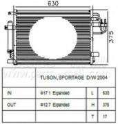 Радиатор кондиционера TUCSON, SPORTAGE (пр-во PARTS-MALL) PARTS MALL