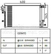 Радиатор кондиционера PMC