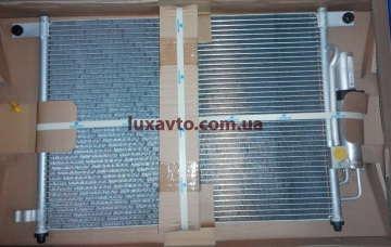 Радиатор кондиционера Шевроле Авео 1.5-1.6 (Chevrolet Aveo) (T200,250) Luzar