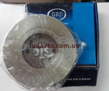 Диск тормозной передний Шевроле Ланос 1.6 (Chevrolet Lanos), Дэу Нексия 1.6 (Daewoo Nexia) QAP Польша