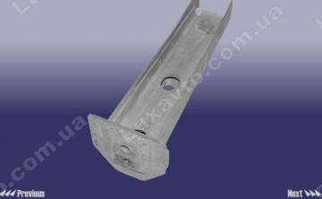 Кронштейн переднего бампера левый (центральное крепление, металл) Chery Elara [1.5, -2011г.], Chery Elara [2.0]