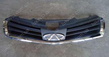 Решетка радиатора (черная, под эмблему Chery) Chery A13 [Forza,HB], Chery A13[Forza,Sedan] оригинал