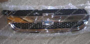 Решетка радиатора Шевроле Авео-3 (Chevrolet Aveo) Т250 хром JH01-AVO07-007C
