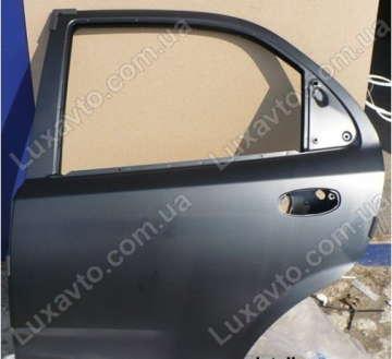 Дверь задняя левая Шевроле Авео (Chevrolet Aveo) T250 (чёрная) GM